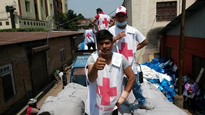 Voluntarios de la Cruz Roja en Nepal. | Cruz Roja