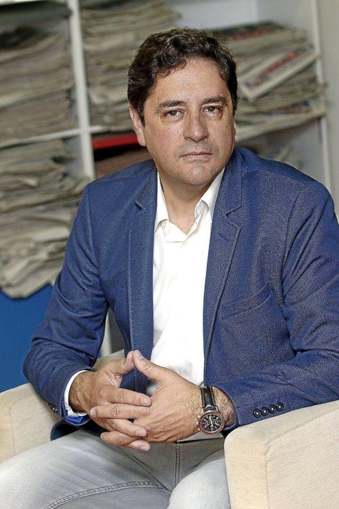 Emigdio Tormo en la redacción de El Mundo, durante la entrevista.