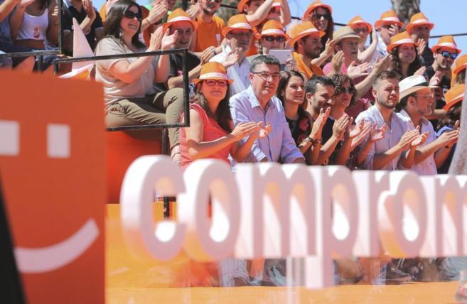 Acto central de campaña de Compromís en Valencia.