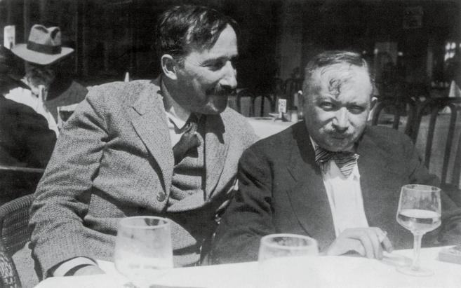 Stefan Zweig y Josef Roth en Ostende, Bélgica, en 1936.