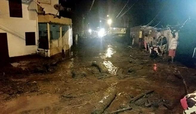 Sector del municipio de Salgar, en Antioquia (Colombia) después de...