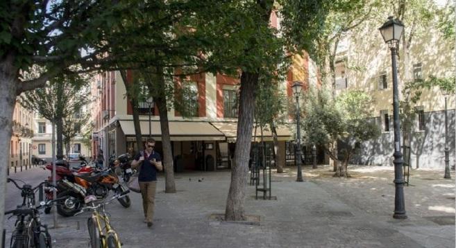 La plaza, en la calle San Gregorio, en que se le deniega una terraza a...