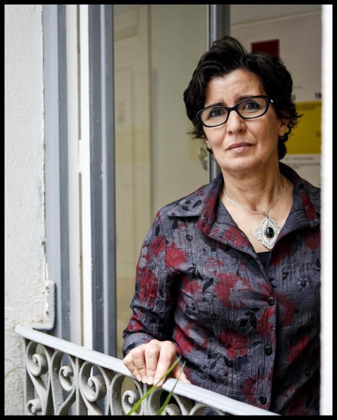 Khadija Ryadi, en la sede de Amnistía Internacional en Madrid.