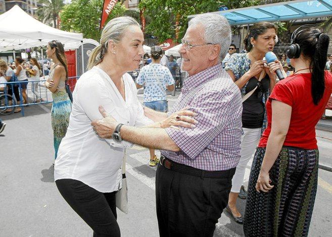 Sonia Castedo y Luis Díaz Alperi, en su último encuentro en...