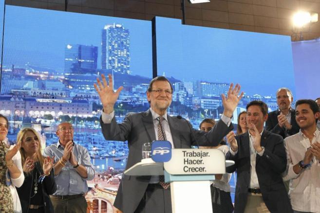 El presidente del Gobierno, Mariano Rajoy, ayer, en Barcelona.