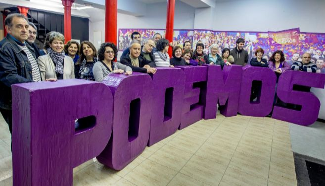 Una reunión del Consejo de Podemos Euskadi el pasado abril en Bilbao.