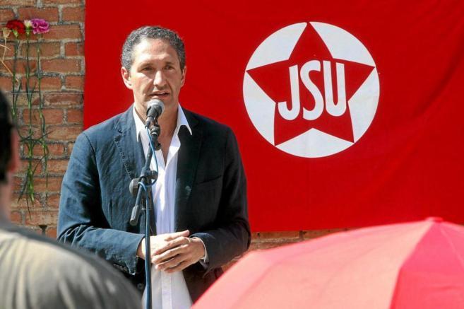 El candidato del PSOE José Cepeda durante una intervención pública...