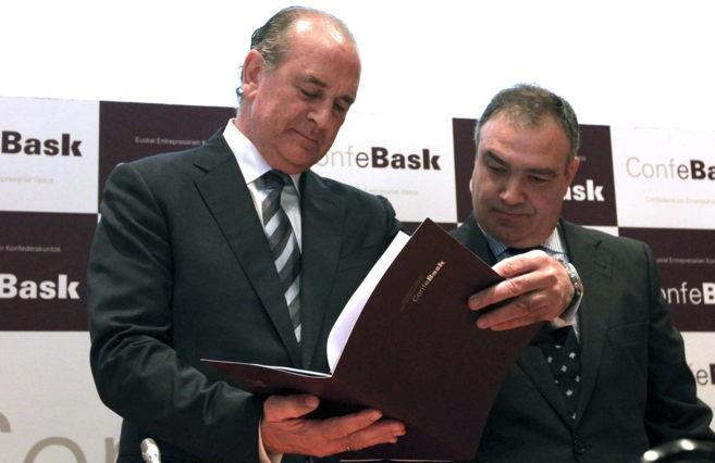 Miguel Ángel Lujua y Eduardo Arechaga, en la presentación de...