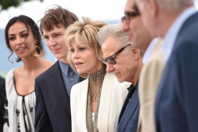 El equipo de 'Youth' con Jane Fonda en el centro.
