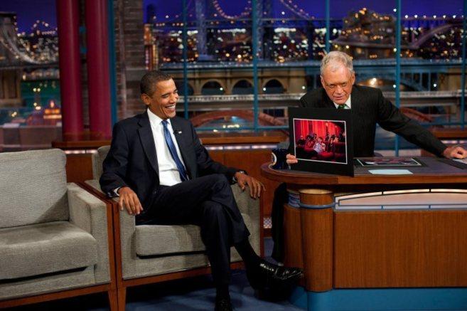 David Letterman en su entrevista con Barack Obama