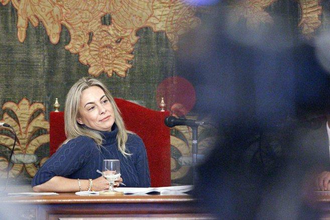 La ex alcaldesa de Alicante, Sonia Castedo, presidiendo un pleno.