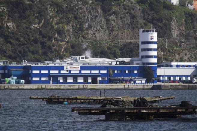Vista de la sede de Pescanova en la localidad pontevedresa de...