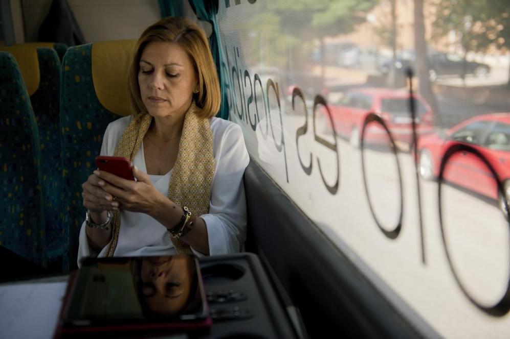 La candidata del PP a la presidencia de Castilla-La Mancha, María...