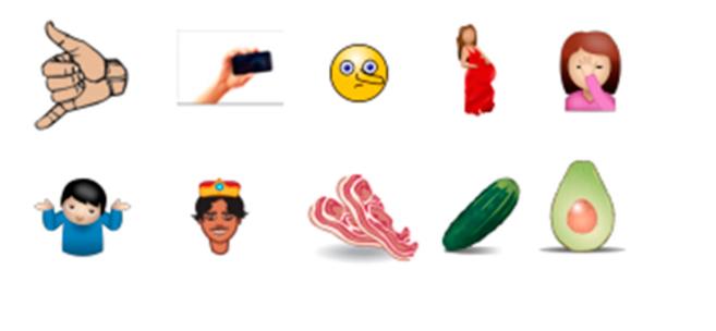Algunos de los emoji propuestos por Unicode Consortium.