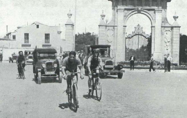 Imagen de 1927 del Campeonato de Castilla de ciclismo.