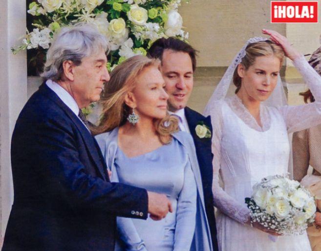 Imagen de la boda en Londres del hijo pequeño de Alberto Cortina y...