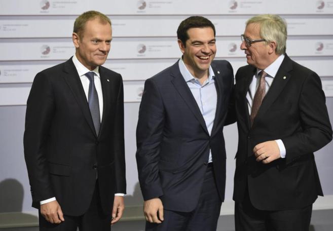 El primer ministro griego, Alexis Tsipras, en la cumbre celebrada en...