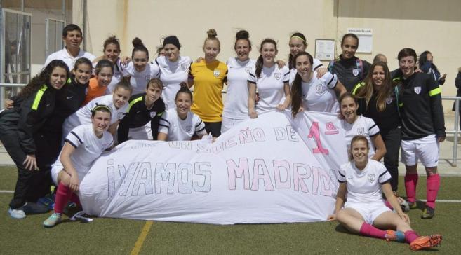 Foto de equipo de las jugadores del Madrid Club de Fútbol Femenino.