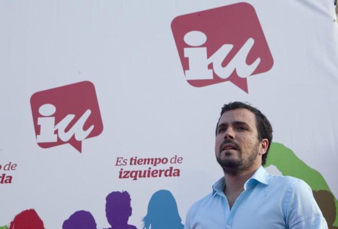 Alberto Garzón, durante un mitin en Córdoba.
