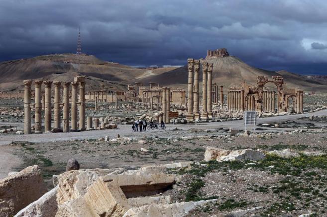La antigua ciudadela de Palmira, ahora en manos del Estado Islámico.
