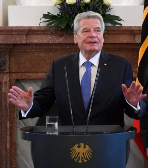 El presidente de Alemania Joachim Gauck.