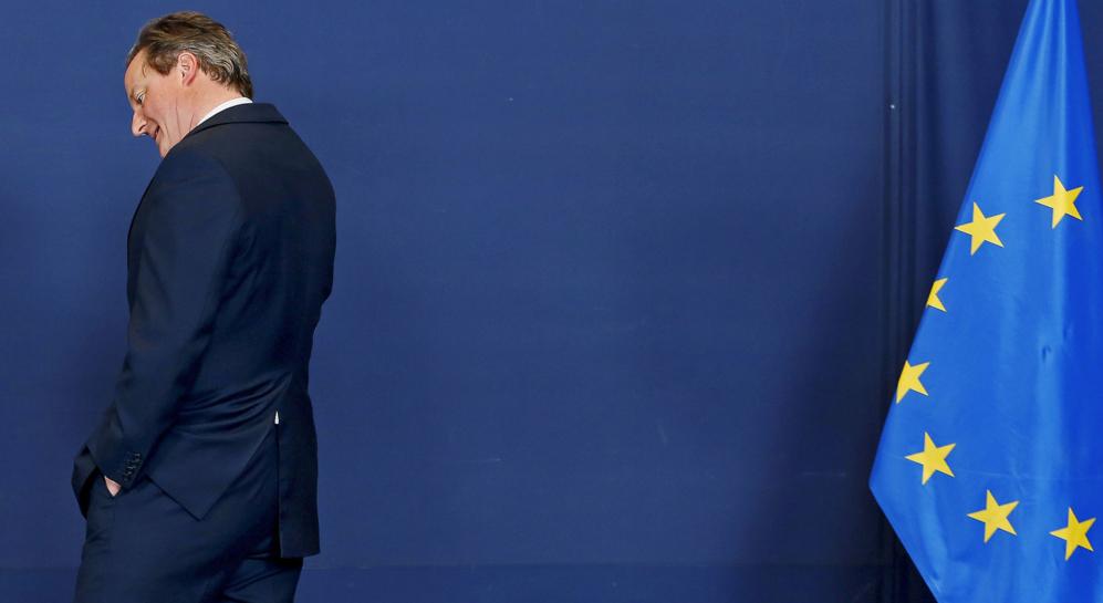 El británico David Cameron, en una reunión de líderes europeos en...