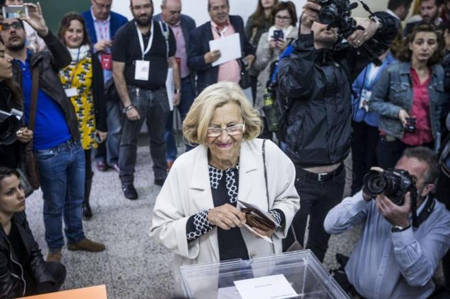 La candidata de Ahora Madrid a la Alcaldía, Manuela Carmena.