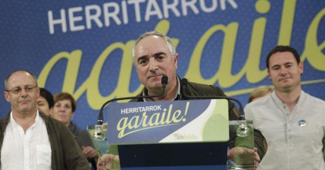 El candidato de EH Bildu a la diputación de Gipuzkoa, Xabier Olano,...