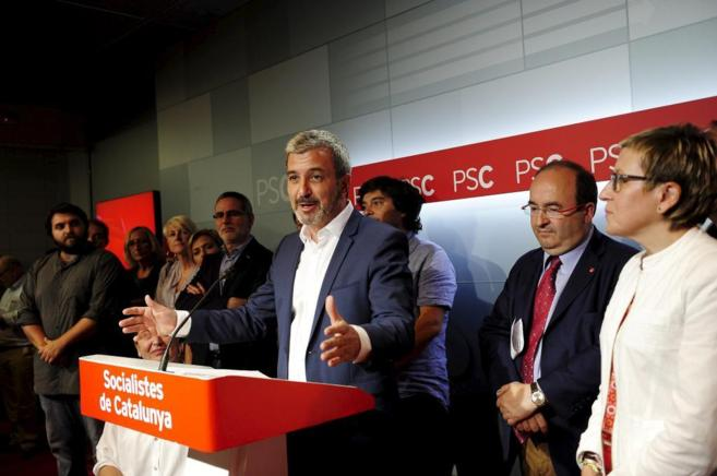 Jaume Collboni , candidato del PSC a la Alcaldía de Barcelona