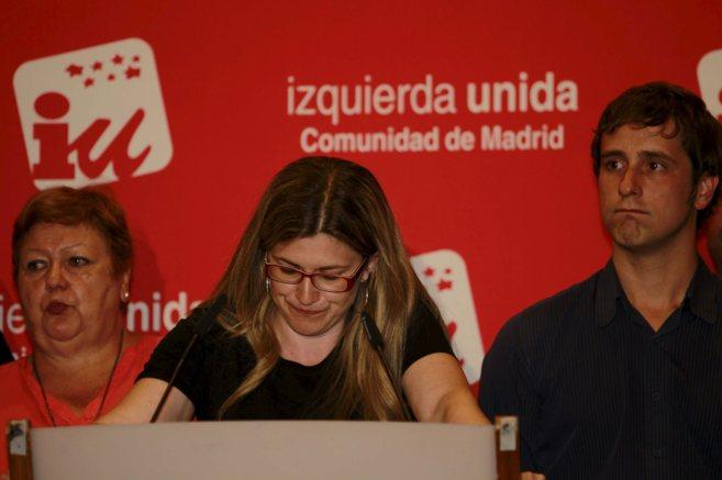 Raquel López, candidata de IU al Ayuntamiento, tras conocerse los...