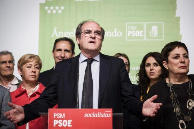 Ángel Gabilondo comparece tras los resultados electorales.