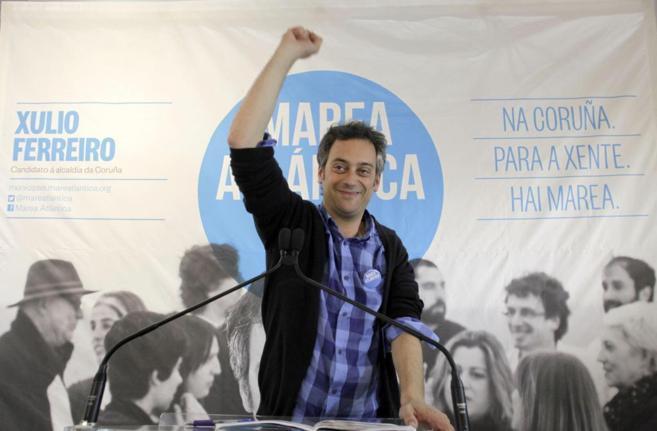 El candidato de Marea Atlántica de A Coruña, Xulio Ferreiro.