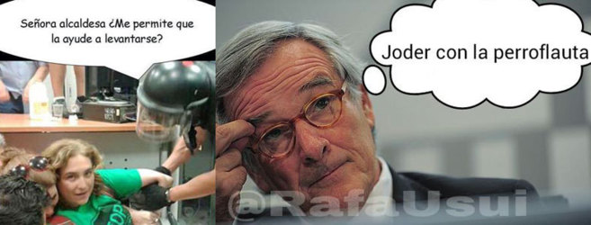 Dos de los 'memes' que circulan en torno a la victoria de Ada Colau en...