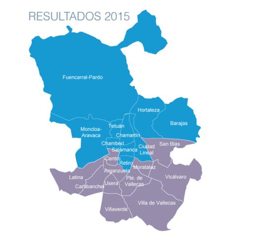 Así ha quedado cada distrito del ayuntamiento de Madrid en las Elecciones Municipales