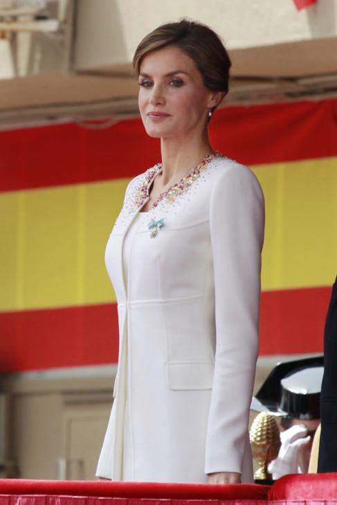 La Reina, la semana pasada en un acto de la Guardia Civil.