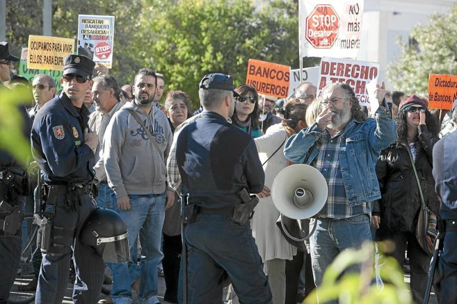 Manifestación contra los desahucios de viviendas en Córdoba en...