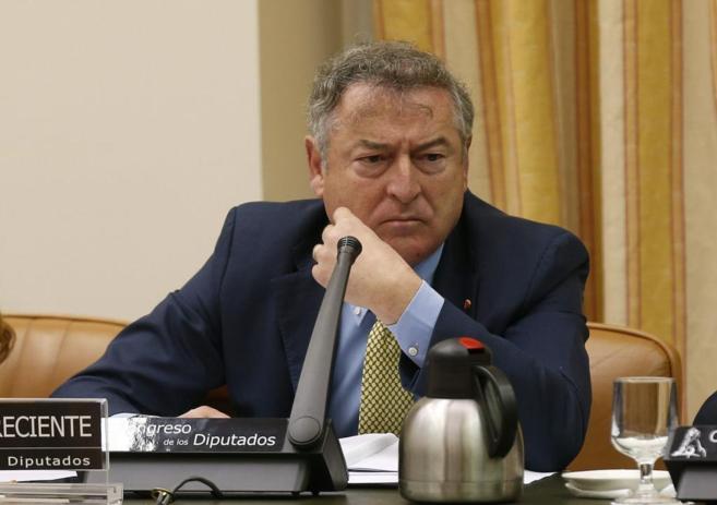 El presidente de RTVE, José Antonio Sánchez, durante su...
