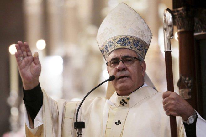 Monseñor Francisco Javier Martínez, arzobispo de Granada, durante...