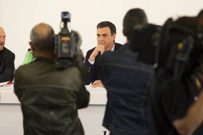 Pedro Sánchez en la Ejecutiva Federal del PSOE celebrada el lunes.