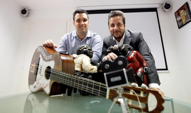 Los socios de Red Points, en la sede de su empresa en Barcelona.
