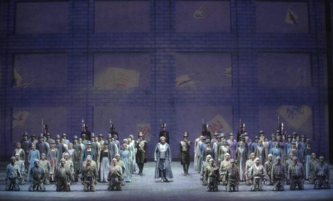 Aspecto del montaje de 'Fidelio' que se estrena este...