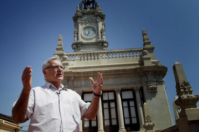 El candidato de Compromís a la alcaldía, en el Ayuntamiento de...