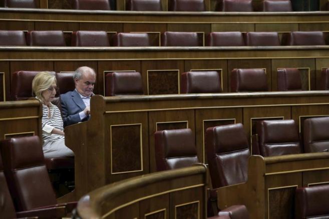 Rosa Díez y Martínez Gorriarán este miércoles en el Congreso.