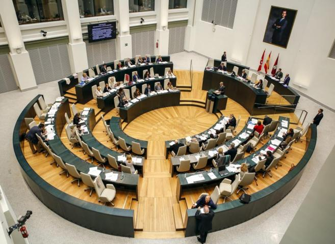 El Pleno del Ayuntamiento de Madrid en el Palacio de Cibeles.