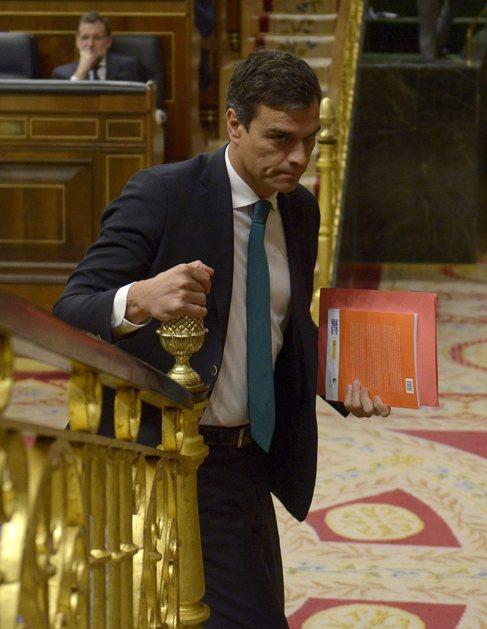 El líder del PSOE, Pedro Sánchez, en el Congreso