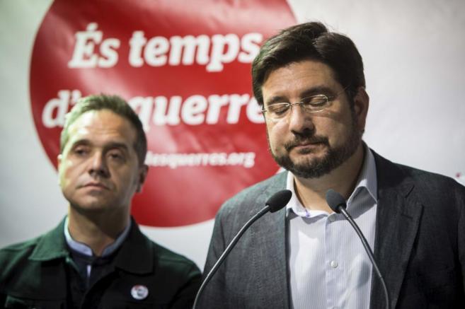 El portavoz de Esquerra Unida, Ignacio Blanco, la noche electoral.