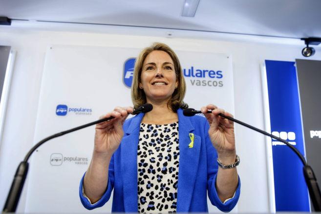 La presidenta del PP en el País Vasco, Arantza Quiroga, en su...