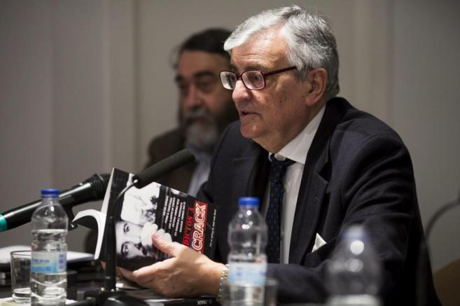 Eduardo Torres-Dulce, durante la presentación del libro 'Adictos a...