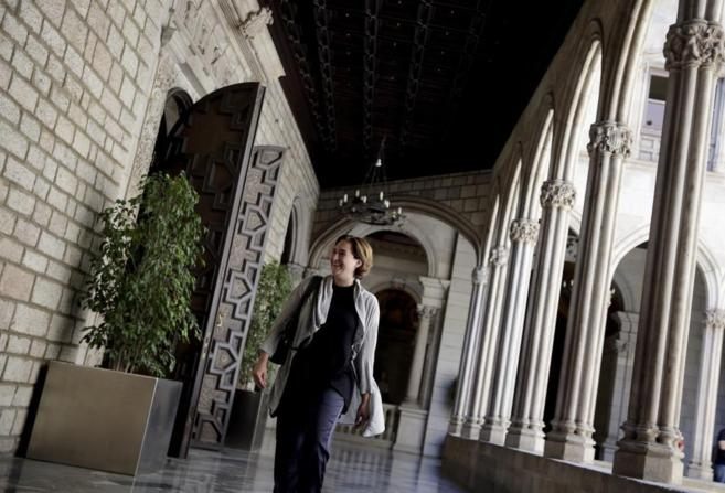 La ganadora de las elecciones municipales en Barcelona, Ada Colau