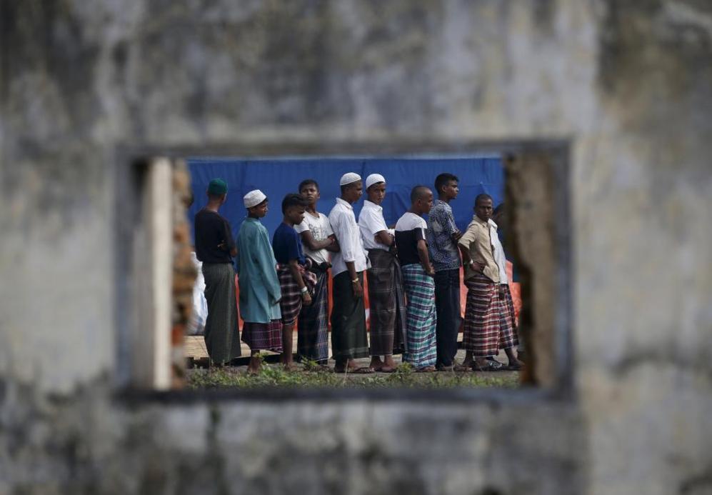 Migrantes Rohingyas a su llegada a Indonesia, la semana pasada.